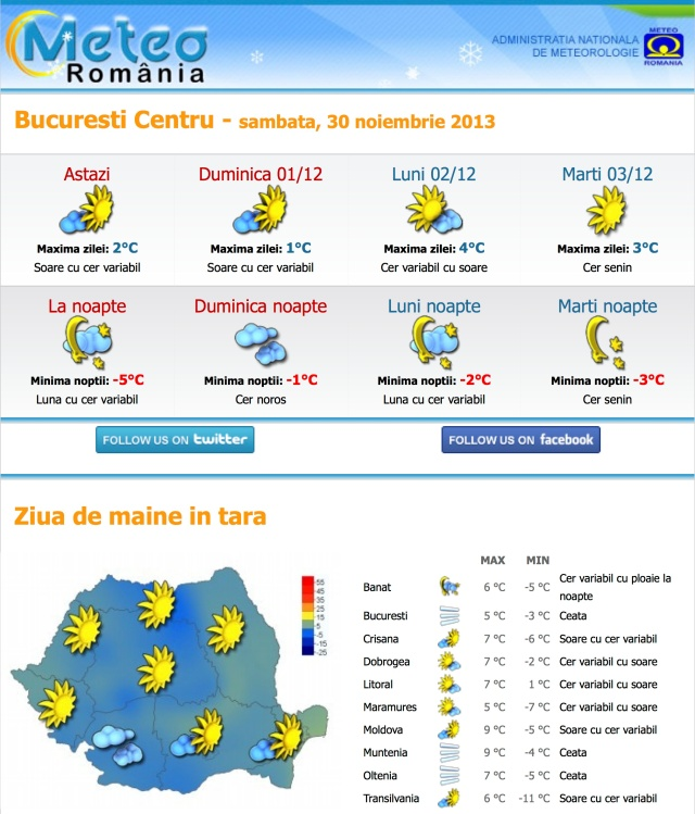 Newsletter Meteo Romania