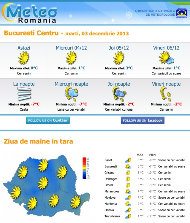 Newsletter Meteo Romania